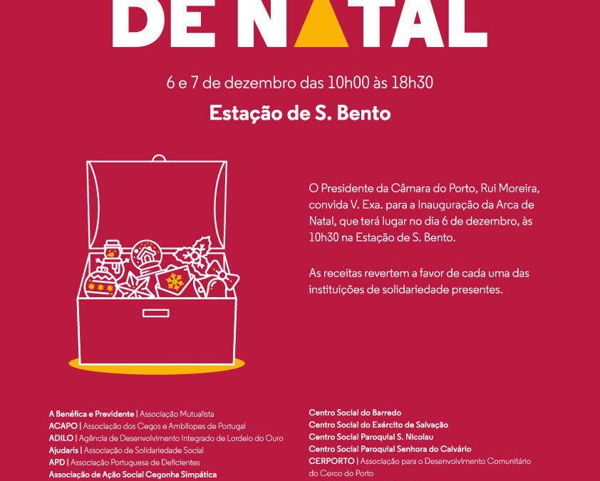 Convite para a Inauguração da Arca de Natal – dia 6 de dezembro – na Estação de S. Bento