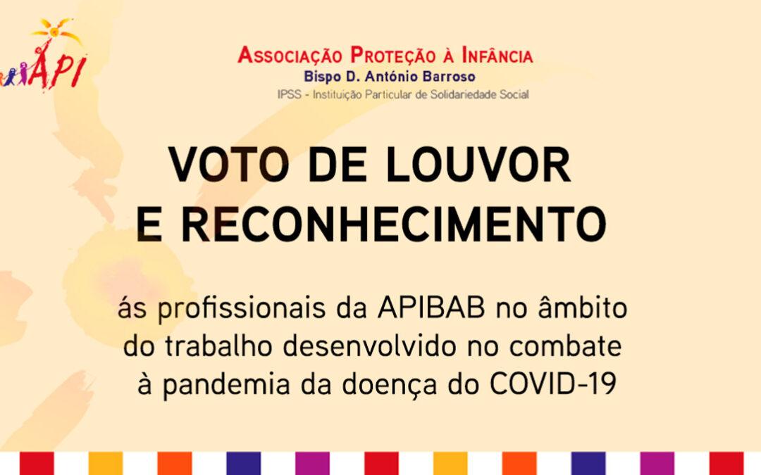 Voto de louvor e reconhecimento às profissionais da APIBAB