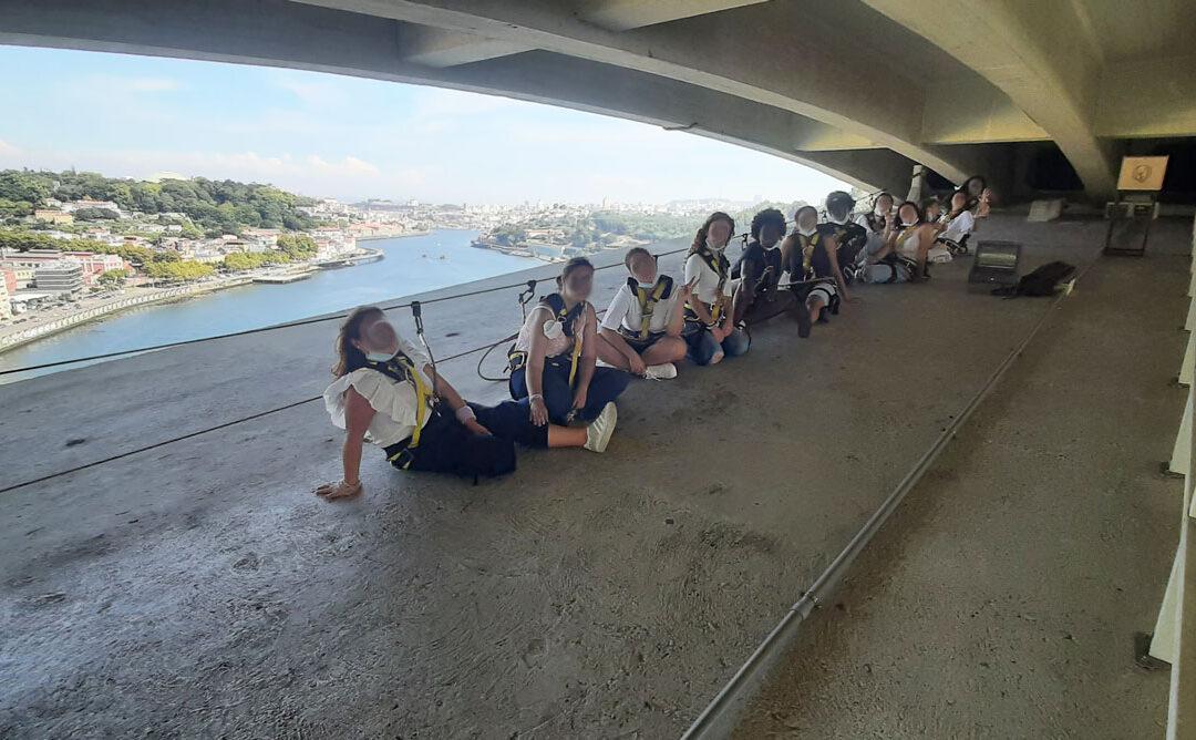 Subimos o arco da Ponte da Arrábida!